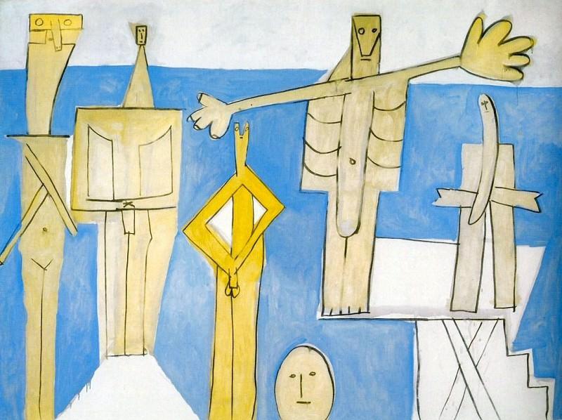 1957 Baigneurs sur la plage Е la Garoupe. Pablo Picasso (1881-1973) Period of creation: 1943-1961