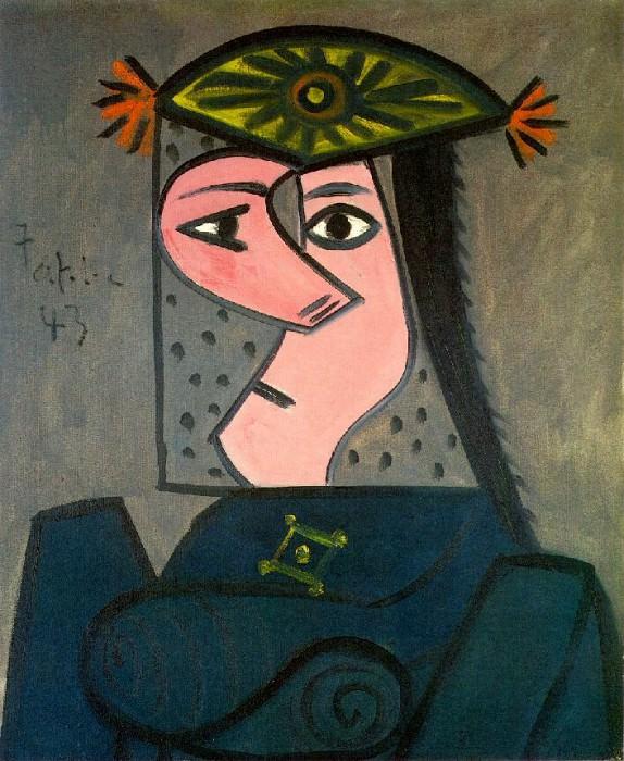1943 Buste de femme R. Пабло Пикассо (1881-1973) Период: 1943-1961