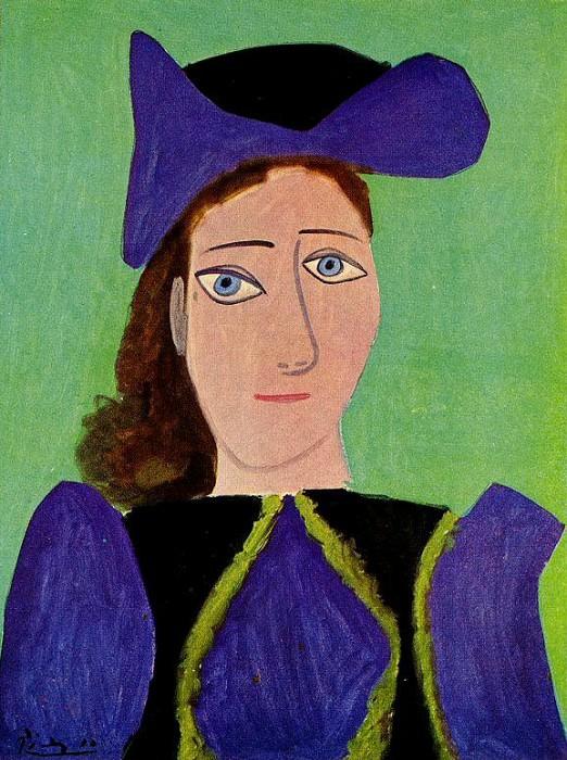 1943 Portrait de femme (Dora Maar). Пабло Пикассо (1881-1973) Период: 1943-1961
