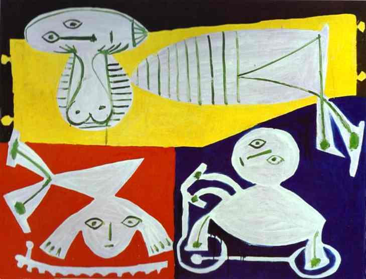 1951 FranЗoise Gilot avec Claude et Paloma. Pablo Picasso (1881-1973) Period of creation: 1943-1961