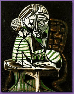 1951 Femme dessinant (FranЗoise). Pablo Picasso (1881-1973) Period of creation: 1943-1961