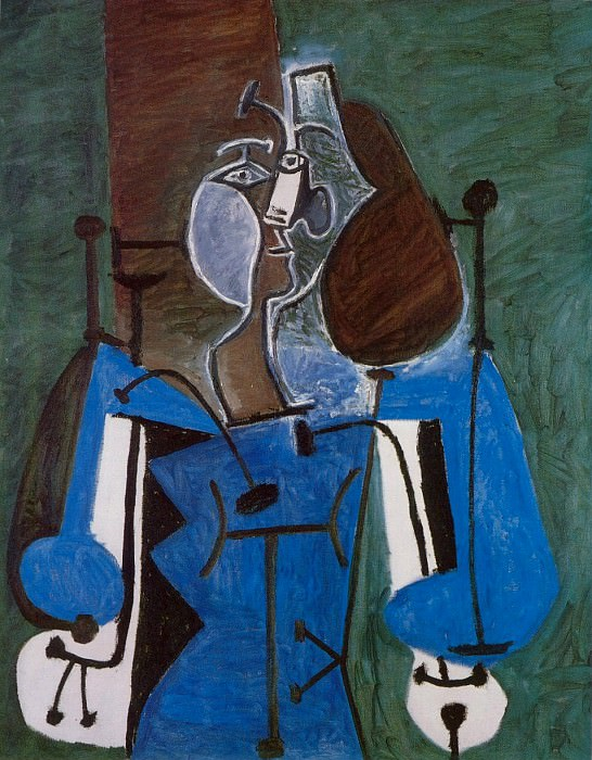 1949 Femme assise 2. Pablo Picasso (1881-1973) Period of creation: 1943-1961