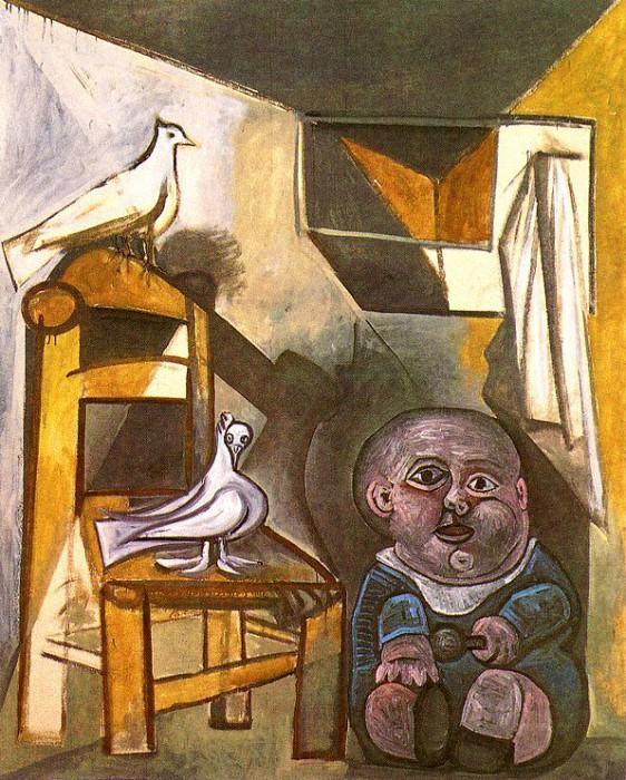 1943 Lenfant aux colombes. Пабло Пикассо (1881-1973) Период: 1943-1961