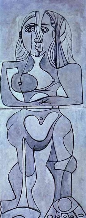 1958 Femme debout. Pablo Picasso (1881-1973) Period of creation: 1943-1961