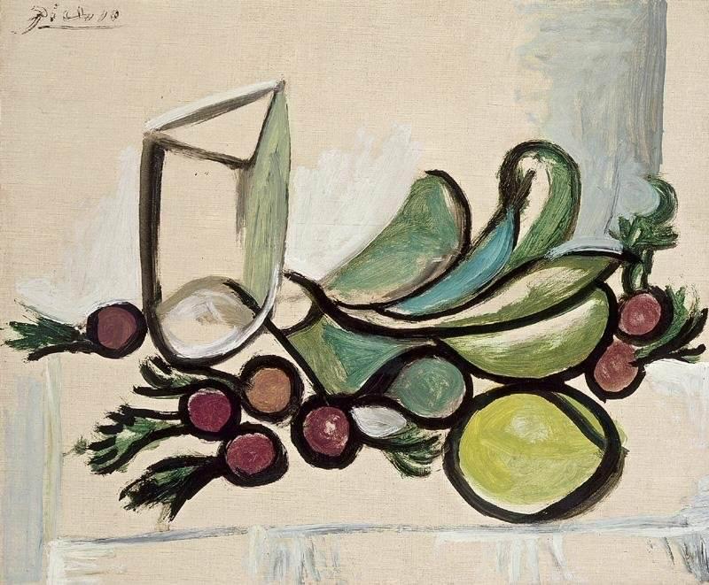 1944 Verre et fruits. Pablo Picasso (1881-1973) Period of creation: 1943-1961