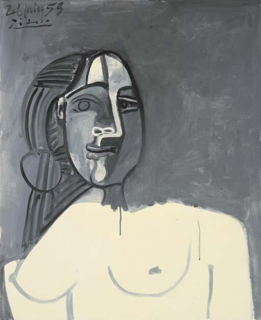 1953 Buste de femme. Pablo Picasso (1881-1973) Period of creation: 1943-1961