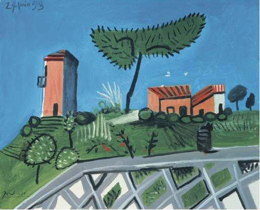 1953 La balustrade. Pablo Picasso (1881-1973) Period of creation: 1943-1961