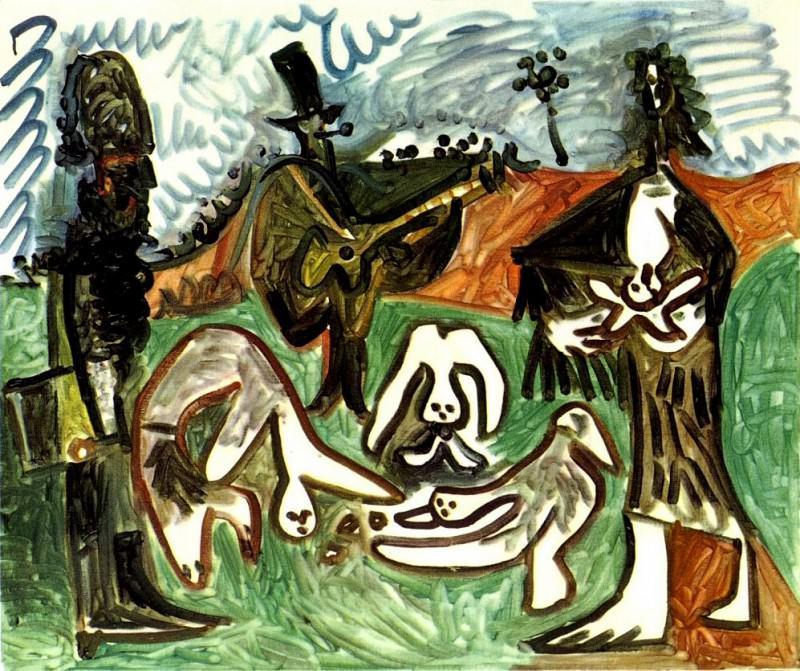 1960 Guitariste et personnages dans un paysage II. Pablo Picasso (1881-1973) Period of creation: 1943-1961