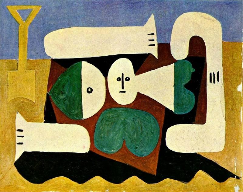 1960 Nu sur la plage et pelle. Pablo Picasso (1881-1973) Period of creation: 1943-1961