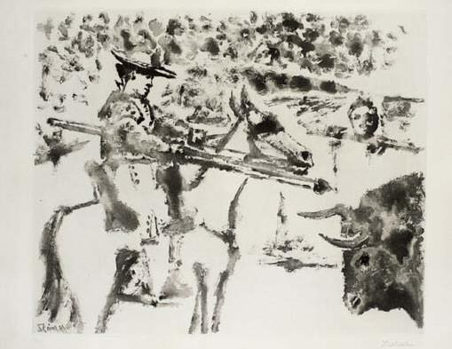 1952 Le picador. Pablo Picasso (1881-1973) Period of creation: 1943-1961