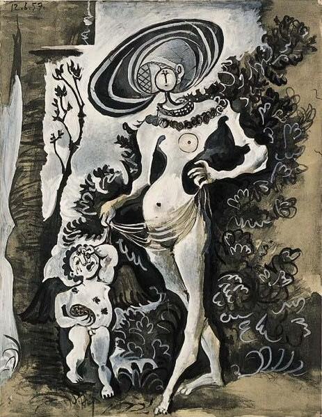 1957 Sujet de Lucas Cranach. Pablo Picasso (1881-1973) Period of creation: 1943-1961