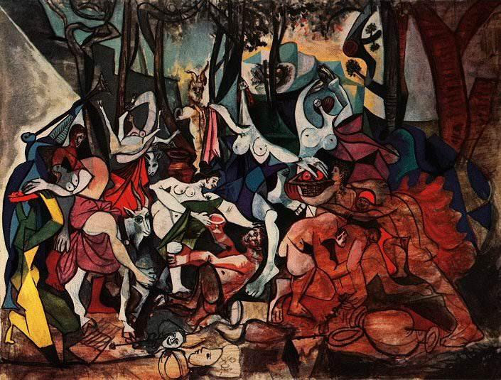 1944 Bacchanales- Triomphe de Pan daprКs Poussin. Pablo Picasso (1881-1973) Period of creation: 1943-1961