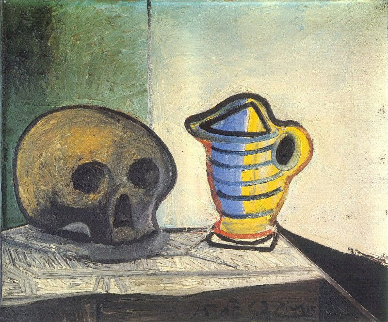 1943 Nature morte au crГne et au pot 2. Pablo Picasso (1881-1973) Period of creation: 1943-1961