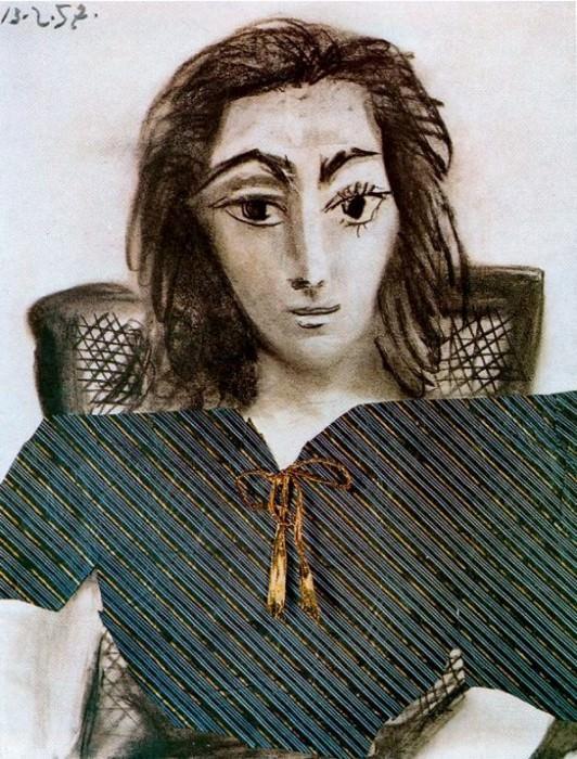 1957 Portrait de Jacqueline. Pablo Picasso (1881-1973) Period of creation: 1943-1961