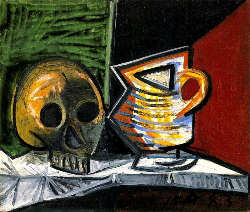 1943 Nature morte au crГne et au pot 1. Pablo Picasso (1881-1973) Period of creation: 1943-1961
