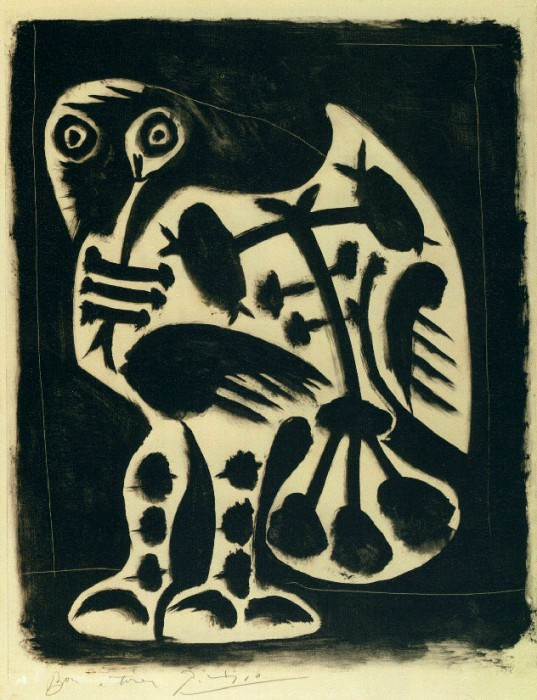 1948 Le grand hibou. Pablo Picasso (1881-1973) Period of creation: 1943-1961