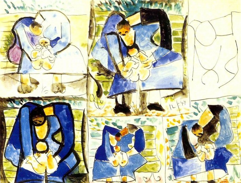 1944 MaternitВ (Vert Galant). Pablo Picasso (1881-1973) Period of creation: 1943-1961