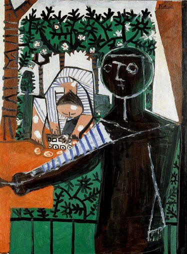 1953 Paloma devant le jardin. Pablo Picasso (1881-1973) Period of creation: 1943-1961