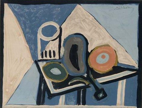 1953 Nature morte а laubergine. Pablo Picasso (1881-1973) Period of creation: 1943-1961