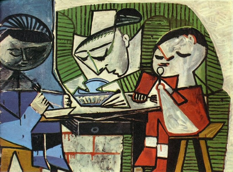 1953 Le dВjeuner. Pablo Picasso (1881-1973) Period of creation: 1943-1961 (Le repas)