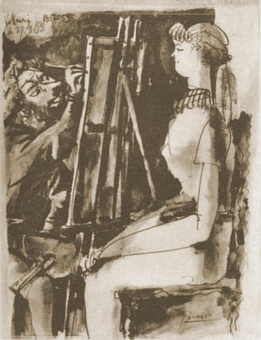 1953 Peintre et modКle. Pablo Picasso (1881-1973) Period of creation: 1943-1961