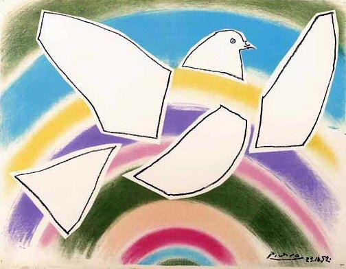 1952 Colombe volante (Е lArc-en-ciel). Pablo Picasso (1881-1973) Period of creation: 1943-1961