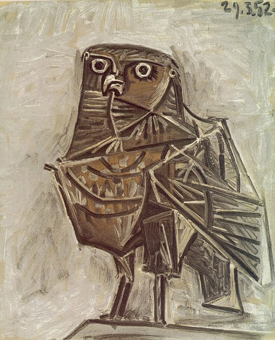 1951 Le hibou de la mort. Pablo Picasso (1881-1973) Period of creation: 1943-1961