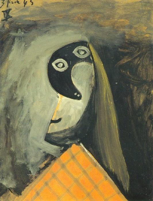 1943 TИte de femme. Pablo Picasso (1881-1973) Period of creation: 1943-1961