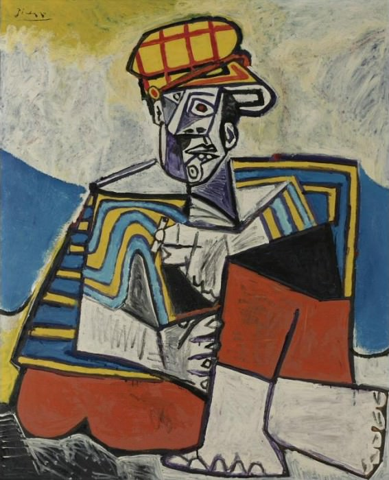 1953 Le fumeur. Pablo Picasso (1881-1973) Period of creation: 1943-1961