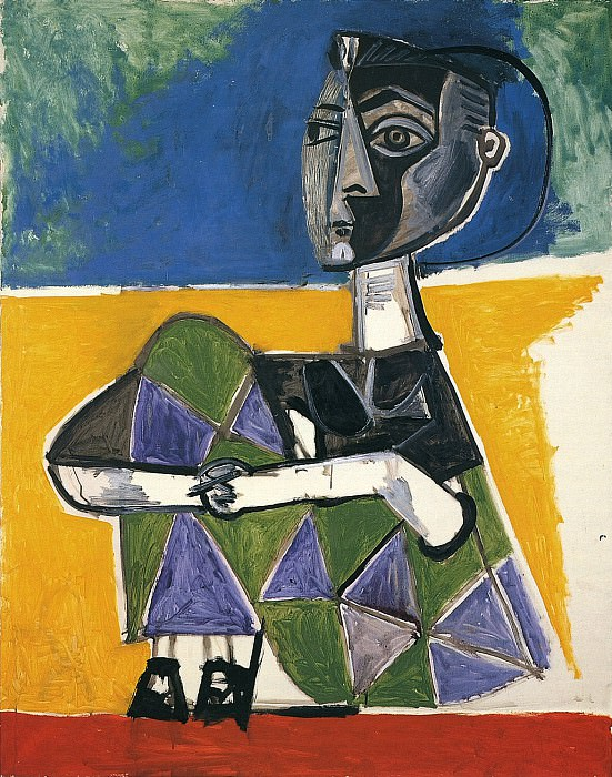 1954 Jacqueline assise. Pablo Picasso (1881-1973) Period of creation: 1943-1961