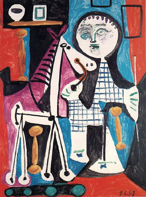 1949 Enfant au cheval Е roulettes. Pablo Picasso (1881-1973) Period of creation: 1943-1961