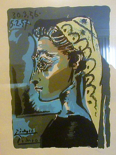 1956 TИte de femme- Profil. Pablo Picasso (1881-1973) Period of creation: 1943-1961