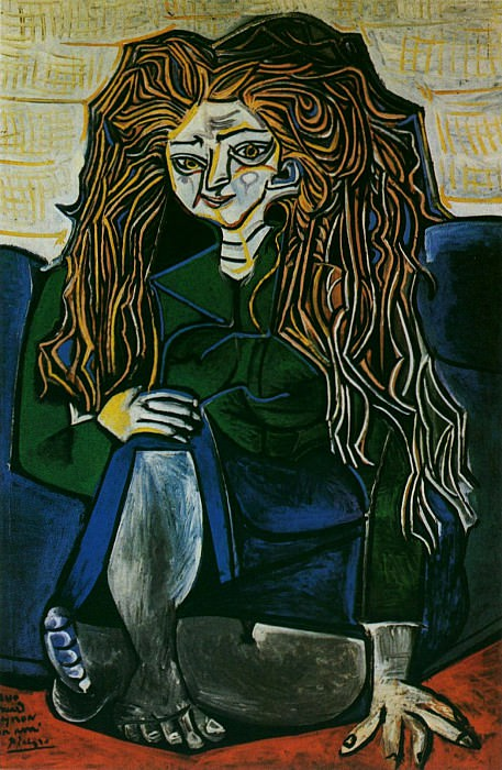 1951 Portrait de madame HВlКne Parmelin sur fond vert. Pablo Picasso (1881-1973) Period of creation: 1943-1961
