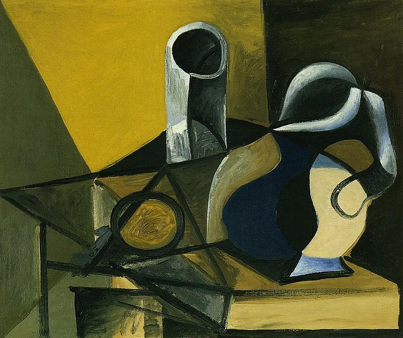 1943 Nature morte Е la cruche et au verre. Pablo Picasso (1881-1973) Period of creation: 1943-1961 (Verre et pichet)