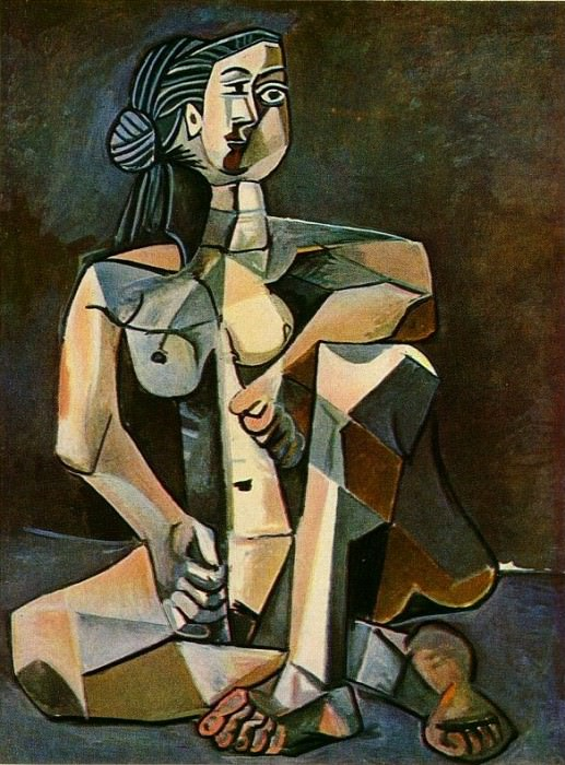 1953 Femme nue accroupie. Pablo Picasso (1881-1973) Period of creation: 1943-1961