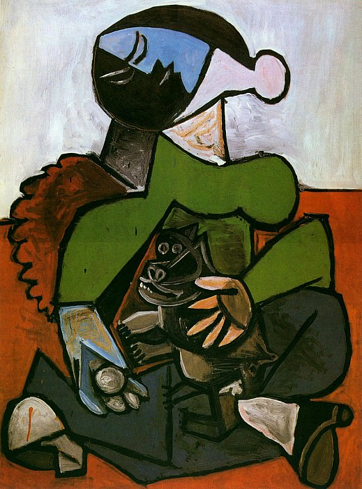 1953 Femme assise avec chien. Pablo Picasso (1881-1973) Period of creation: 1943-1961