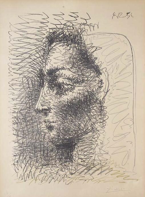 1956 Portrait de Jacqueline. Pablo Picasso (1881-1973) Period of creation: 1943-1961