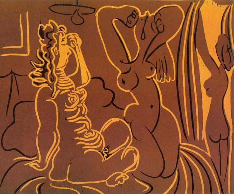 1959 Trois femmes. Pablo Picasso (1881-1973) Period of creation: 1943-1961