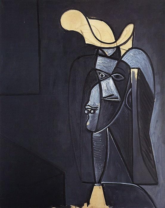 1947 Visage gris foncВ au chapeau blanc. Pablo Picasso (1881-1973) Period of creation: 1943-1961