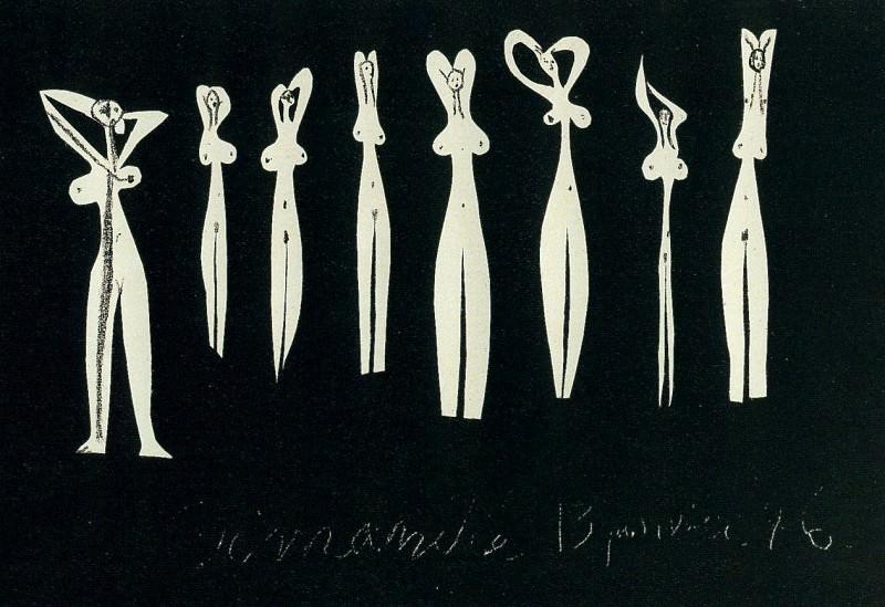 1946 Huit silhouettes. Пабло Пикассо (1881-1973) Период: 1943-1961