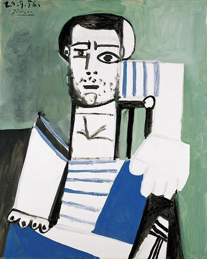 1956 Lhomme au maillot rayВ III. Pablo Picasso (1881-1973) Period of creation: 1943-1961