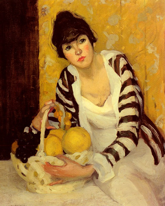 Peterson Jane Girl With Fruit. American artists