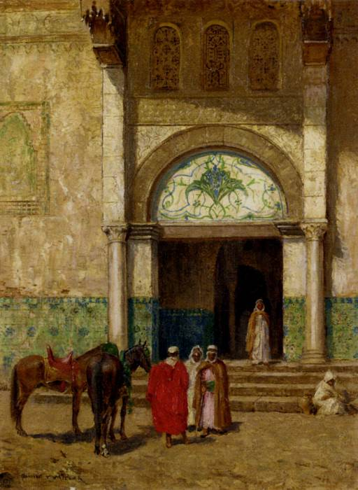 Millar Addison Thomas A Rest Outside A Mosque. American artists
