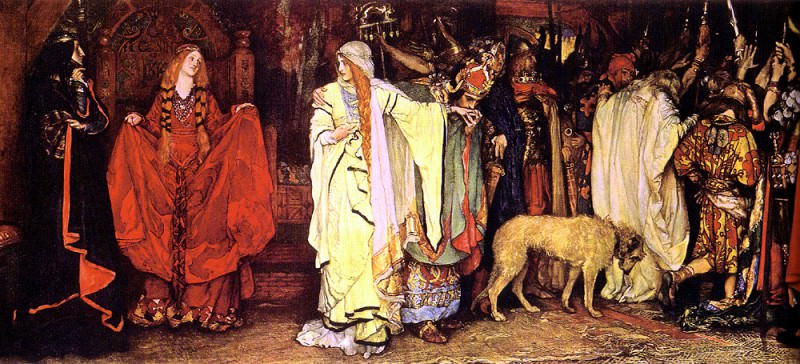 Abbey Austin Edwin King Lear Cordelia-s Farewell. American artists