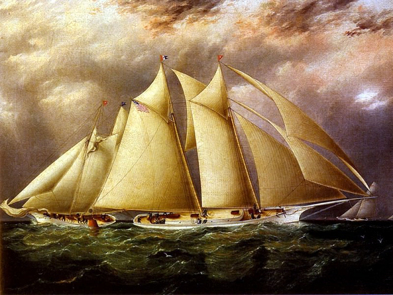 Butterworth James E Yacht Alice Rounding The Buoy. American artists
