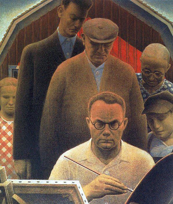 Вуд, Грант (1891-1942) #1. Американские художники