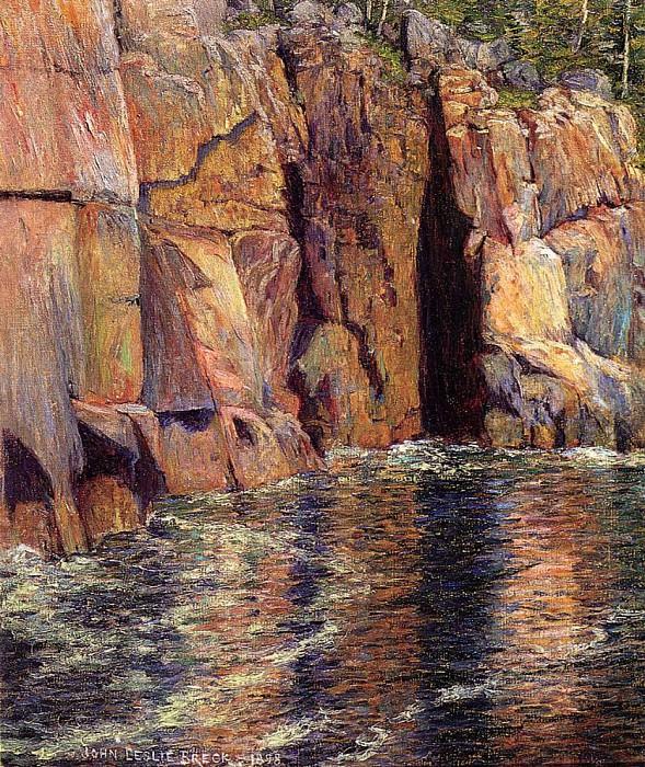 Breck John Leslie The Cliffs at Ironbound Island Maine. American artists