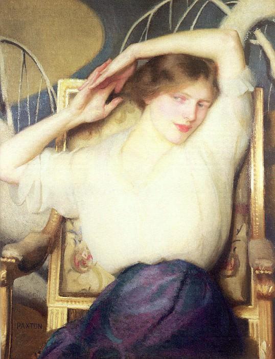 Paxton, William McGregor (American, 1869-1941) 6. American artists