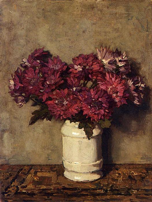 Akkeringa Johannes Evert Chrysanthemums In A Vase. American artists