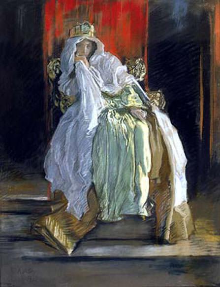 Abbey Edwin Austin The Queen in Hamlet. American artists